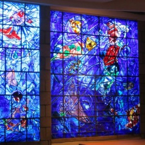 Stained glass windows by Chagall