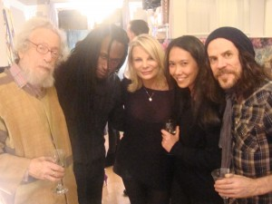 Gerd with Jordan Joseph, Suzanne, Sarah Ellis, and Tony Harnell at a studio soirée in January.