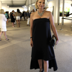 Suzanne at the VIP reception for Art Hamptons