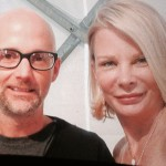 Suzanne with music artist Moby at Art Hamptons